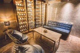 欧式客厅不锈钢装饰酒柜