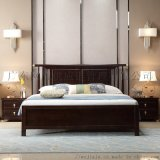 新中式实木床简约轻奢主卧1.8米双人床卧室禅意家具