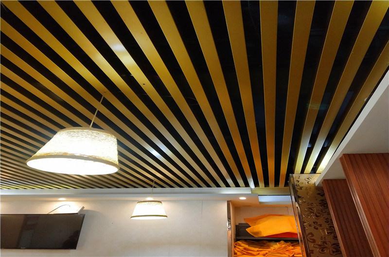 办公室走廊铝方管隔断 仿古铝方管吊顶尺寸定制