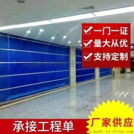 无锡滨湖万象城水晶门安装万达玻璃门定做,伸缩门抗风门