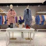 艾希19冬水貂绒外套品牌折扣女装  直播女装货源