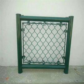 体育场围网 包塑勾花围网 运动场护栏操场围栏