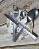 QD3162 锤纹手柄 不锈  叉匙