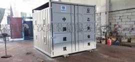 供应深圳东莞惠州集装箱**氧气气瓶房订制工地专用