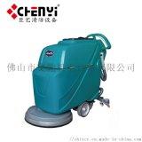 商用多功能电瓶自动拖擦洗地车 手推式洗地机