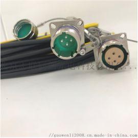 J599系列光纤连接器 反装插头插座 J599不锈钢接头 光电复合组件