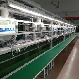 电子组装流水线 皮带式输送线 食品厂白色皮带流水线