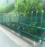 PVC白蓝相间护栏草坪围栏PVC草坪护栏公园花坛别墅栅栏现货供应