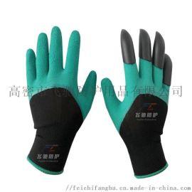 花园手套挖土园林园艺爪子手套