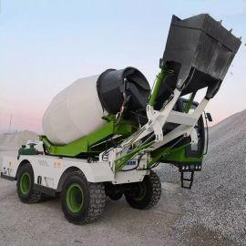 自动上料混凝土攪拌車 3.5方多功能罐车 厂家直销