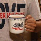 经典仿搪瓷陶瓷杯马克杯喝水杯