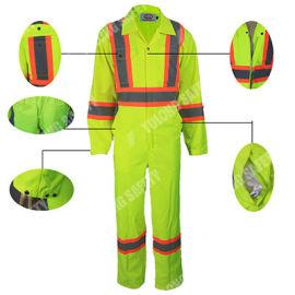 阻燃荧光连体服 豫龙工作服 安全防护服