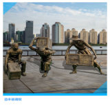 肇庆农耕文化雕塑 玻璃钢街边小贩人物雕塑