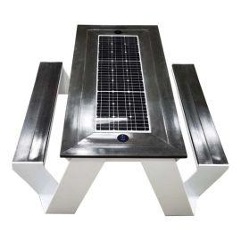 海南三亚太阳能智慧休闲椅, 智慧社区充电一体桌椅