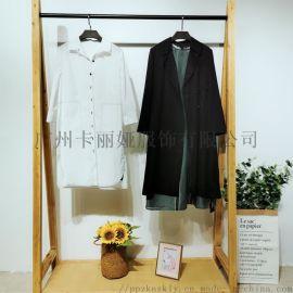 卡丽娅 品牌折扣女装 保暖纯色系列棉衣折扣批发