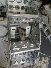 抛丸机钢制拖链, 线材油管专用钢制拖链, 渗碳钢制拖链