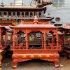昌东工艺铸铁长方形香炉定做,铜长方形八龙柱香炉厂家