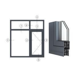 广东兴发铝材创高AL5918A|B系列外平开窗