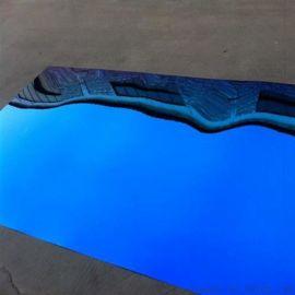 镜面宝石蓝不锈钢装饰板 304不锈钢翡  镀钛