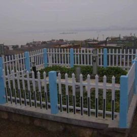 pvc篱笆栅栏 园林草坪围栏