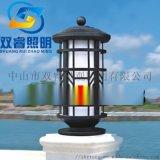 現代歐式柱頭燈不鏽鋼防鏽圓柱燈別墅裝飾照明燈定做