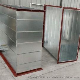 0.8共板法兰风管耐高压矩形白铁皮风管办公室空调换气保温风管