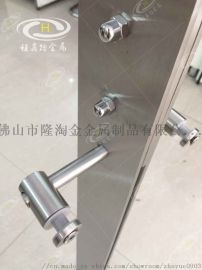 大型**不锈钢玻璃防护栏工程立柱 机场防护栏立柱
