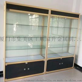 厦门多层烟酒展示柜金属玻璃组合置物柜**调节展柜