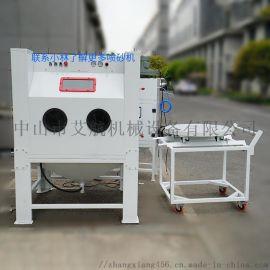 东莞模具喷砂机,硅胶模具清洗手动推车喷砂机