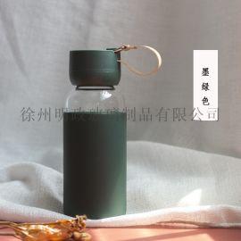 玻璃杯女男创意简约北欧风清新学生情侣便携水杯子