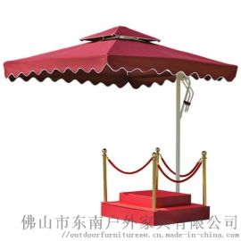 户外保安岗亭遮阳伞物业站岗台形象站台庭院罗马伞