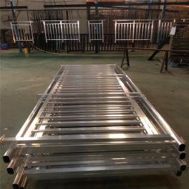 长条形焊接铝合金护栏 1.5厚铝方管焊接铝护栏