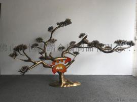 园林景观不锈钢树雕塑表面真空电镀钛金效果如何