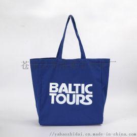 蓝色帆布袋定做厂家棉布袋广告袋棉布袋购物袋