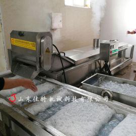 蒸汽加热的莲藕漂烫机,淮北净菜加工生产线