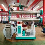 不锈钢调制器喂料器时产10吨420环模颗粒机饲料制粒机