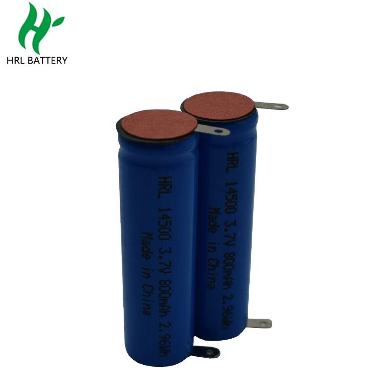 14500 800mah 3.7V 美容仪圆柱电池