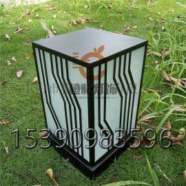 现代方形柱头灯不锈钢落地灯防水草坪灯特色立柱灯