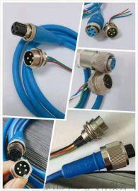 河南矿用传感器线航空插头线YB16M-4