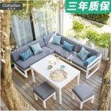 欧凯森  简约转角L形阳台防雨沙发组合户外室外桌子