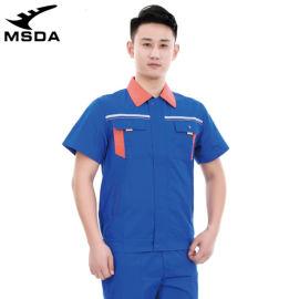 短袖加油站工作服防静电**半袖制服薄耐磨出口工装
