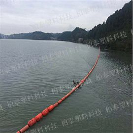自然湖水上编织袋栏污设备浮筒不腐烂制造浮筒