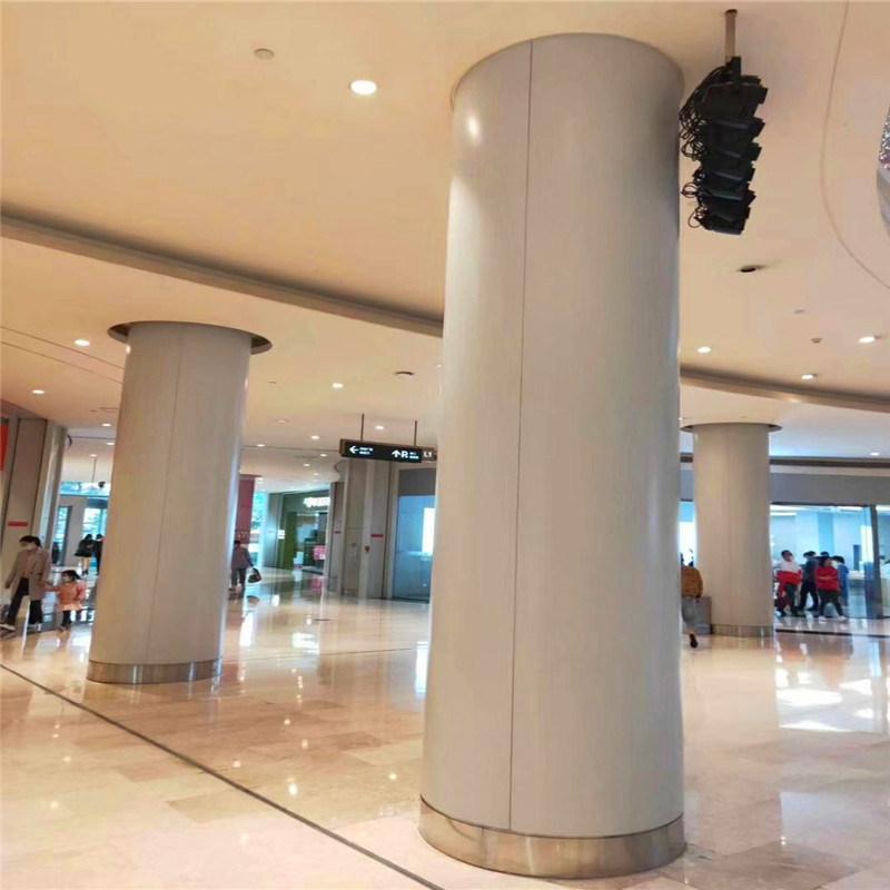 透光冲孔铝单板包柱定制 地下室包柱透光铝单板