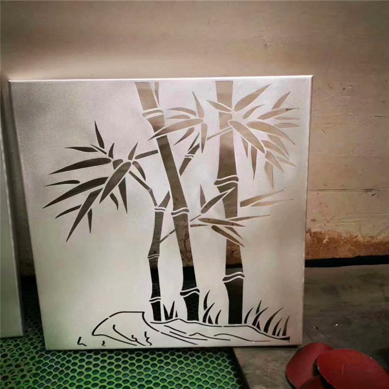 牡丹雕花铝单板幕墙 观景区雕花铝单板