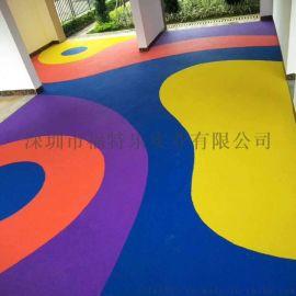 小区彩色弹性地胶 社区橡胶地垫 公园EPDM地垫