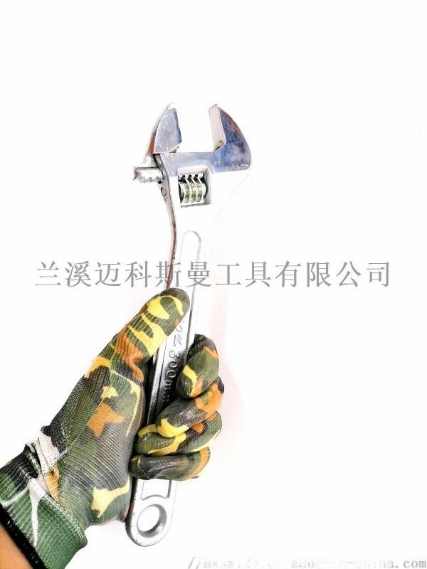 电脑13针尼龙印花丁腈手套劳保手套防滑防静电手套