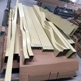 室內幕牆木紋弧形鋁方通廠家定製異形鋁方通天花吊頂