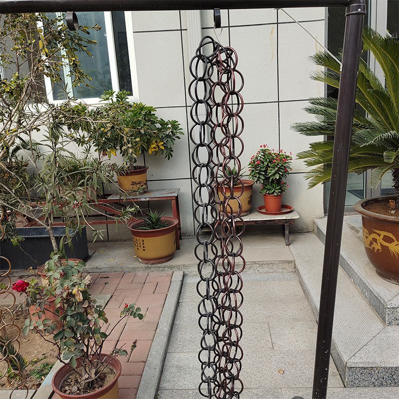 庭院設計用環形雨鏈 鋁合金雨鏈排水鏈