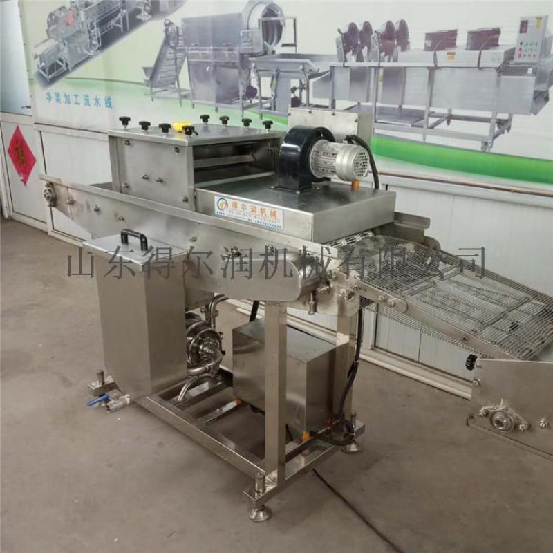 全自动小酥鱼上浆机裹粉机,可变频调速上浆机裹粉机