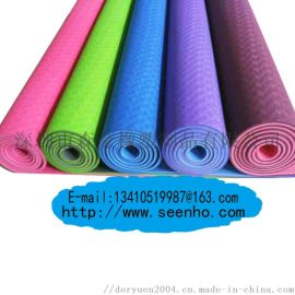 **TPE双层双色双纹路瑜伽垫 TPR健身运动垫